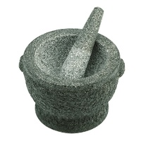 AVANTI ROUGH GREY MORTAR AND PESTLE 11cm x 17cm