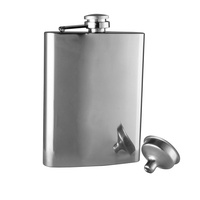 AVANTI STAINLESS STEEL HIP FLASK 236ml - SATIN FINISH
