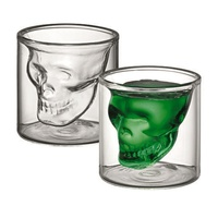 AVANTI SKULL TWIN WALL GLASSES 80ml - SET OF 2