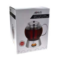 AVANTI GLASS TEAPOT WITH WARMER 1.3 LITRES