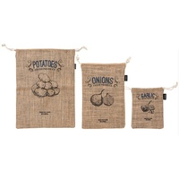 LADELLE GARLIC ONION POTATO HESSIAN BAG SET