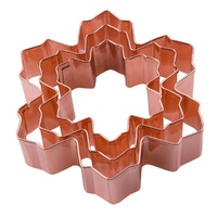 DLINE COPPER PLATED CHRISTMAS COOKIE CUTTERS - SNOWFLAKES