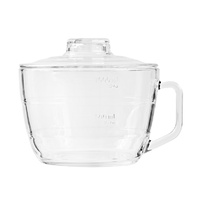GLASSLOCK TEMPERED GLASS 1L MEASURING JUG WITH LID