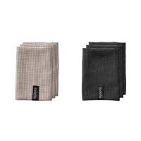 LADELLE MICROFIBRE DISHCLOTH 3PK - BLACK OR BROWN