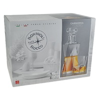 BORMIOLI ROCCO CASSIOPEA 7 PIECE DECANTER AND GLASSES SET