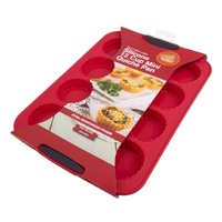 DAILY BAKE RED SILICONE 12 CUP MINI QUICHE PAN