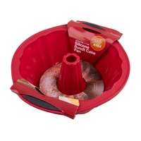DAILY BAKE RED SILICONE BUNDT PAN 24.5cm