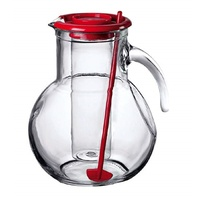 BORMIOLI ROCCO KUFRA 2L GLASS WATER PITCHER + ICE INSERT + STIRRER