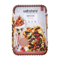 WILTSHIRE NON STICK ROSE GOLD PERFORATED LARGE RECTANGLE QUICHE PAN 30x20cm
