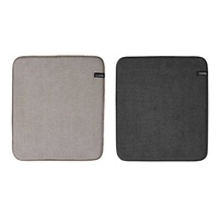 LADELLE MICROFIBRE DISH DRYING MAT 41 x 45cm - BLACK OR BROWN