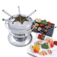 SWISSMAR ZURI 11 PIECE STAINLESS STEEL FONDUE SET