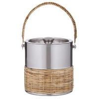 AMALFI ESPRIT BRUSHED STAINLESS STEEL DOUBLE WALL ICE BUCKET