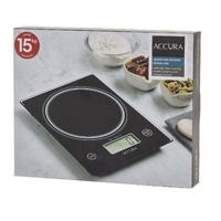 ACCURA PRO AQUARIUS ELECTRONIC DIGITAL KITCHEN SCALE 15kg