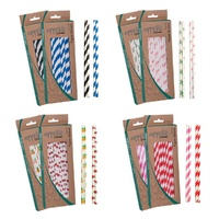 APPETITO PAPER STRAWS - PACK 50