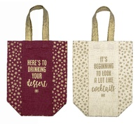 BAILEYS COTTON BOTTLE BAG 25 x 10cm