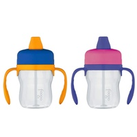 THERMOS FOOGO 235ml TRITAN SIPPY CUP WITH HANDLES - PINK OR BLUE