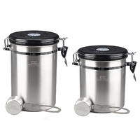 COFFEE CULTURE STAINLESS STEEL COFFEE CANISTER