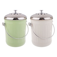 APPETITO 5L COMPOST BIN - GREEN OR WHITE