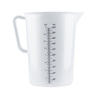 PLASTIC POLYPROPYLENE MEASURING JUGS - 5 SIZES