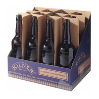 KILNER SET 12 GLASS BEER BOTTLES 500ml