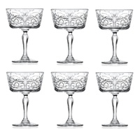 RCR TATTOO CHAMPAGNE DESSERT GOBLET SET 6 - 268ml