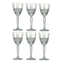 RCR BRILLIANTE WHITE WINE GLASSES 230ml - SET OF 6
