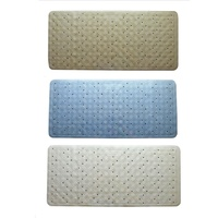 RUBBER BATH MAT - BLUE, BEIGE OR WHITE - 34 x 74cm