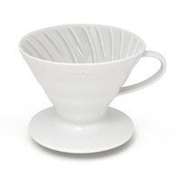 HARIO V60 - 01 COFFEE DRIPPER CERAMIC INCLUDES A FREE MEASURING CUP